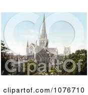 Historical The Angelican Chichester Cathedral In Chichester West Sussex England Royalty Free Stock Photography