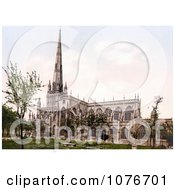 Historical The Angelican St Mary Redcliffe Church In Bristol England Royalty Free Stock Photography