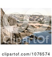 Historical The Beach And City Buildings Ilfracombe In Devon England Royalty Free Stock Photography