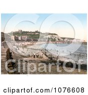 Historical The Beach Dover Castle White Cliffs And Seafront Buildings In Dover Kent England Royalty Free Stock Photography