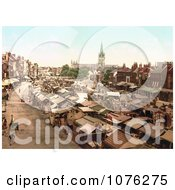 Historical The Bustling Market In Yarmouth Norfolk England UK Royalty Free Stock Photography