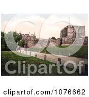 Historical The Carlisle Castle In Carlisle Cumbria England United Kingdom Royalty Free Stock Photography