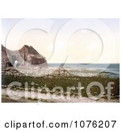 Historical The Cave On The Beach Of Thornwick Bay On The North Sea In Flamborough England Royalty Free Stock Photography