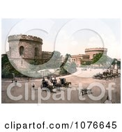 Historical The Citadel Towers In Carlisle Cumbria England United Kingdom Royalty Free Stock Photography