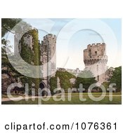Historical The Clock Tower Gateway On The Interior Of The Warwick Castle In Warwick Warwickshire England UK Royalty Free Stock Photography