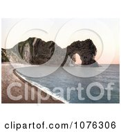 Historical The Durdle Door On The Jurassic Coast Beach In Lulworth Dorset England Royalty Free Stock Photography
