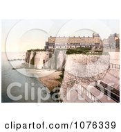 Historical The Fort And Coastal Cliffs In Margate Thanet Kent England UK Royalty Free Stock Photography