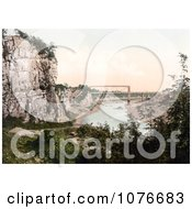 Historical The Great Tubular Bridge Chepstow Railway Bridge Or The Chepstow Bridge Over The River Wye In Chepstow Wales England Royalty Free Stock Photography