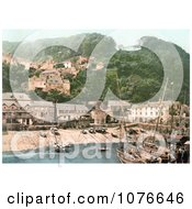 Historical The Harbor And Red Lion Hotel In Clovelly Devon England Royalty Free Stock Photography