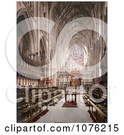 Historical The Interior Of The York Minster Cathedral In York North Yorkshire England Royalty Free Stock Photography