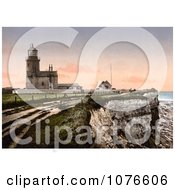Historical The Lighthouse Of Hunstanton In Norfolk England Royalty Free Stock Photography