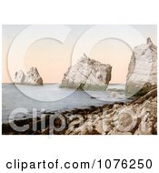 Historical The Lighthouse On The Needles On The Alum Bay Isle Of Wright England UK Royalty Free Stock Photography