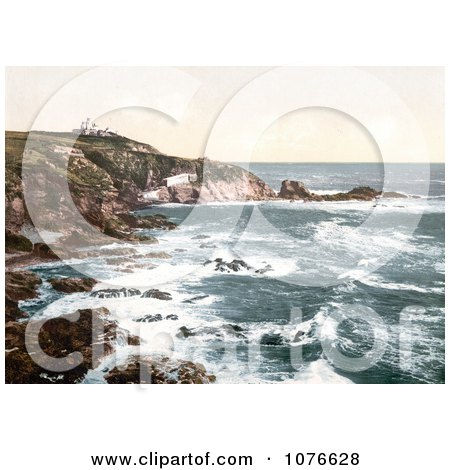 Historical the Lizard Lighthouse at Lizard Point, Cornwall England - Royalty Free Stock Photography  by JVPD