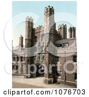 Historical The Main Entrance Gate To St JohnS College In Cambridge Cambridgeshire England United Kingdom Royalty Free Stock Photography
