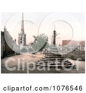Historical The Market Cross St WystanS Church And Repton School In Derbyshire England Royalty Free Stock Photography