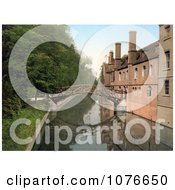 Historical The Mathematical Wooden Bridge Over The River Cam At QueenS College Cambridge England Royalty Free Stock Photography