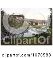 Historical The Midland Railway Headstone Viaduct Over The River Wye In Monsal Dale Derbyshire England Royalty Free Stock Photography