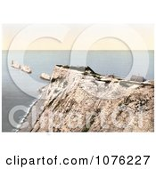 Historical The Needles On Alum Bay Isle Of Wight England UK Royalty Free Stock Photography