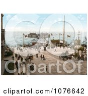 Historical The North Pier On The Irish Sea In Blackpool Lancashire England Royalty Free Stock Photography