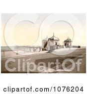 Historical The Pier In Redcar North Yorkshire England UK Royalty Free Stock Photography