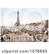 Historical The Promenade Near The Tower In Blackpool Lancashire England Royalty Free Stock Photography by JVPD