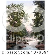 Historical The River Eden Through Kirkby Stephen Stenkreth Lake District England Royalty Free Stock Photography