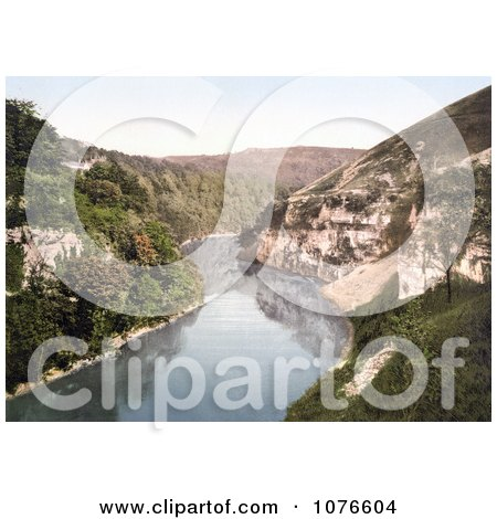 Historical the River Wye in Monsal Dale, Water-come-Jolly, Derbyshire, England - Royalty Free Stock Photography  by JVPD