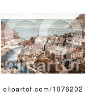 Historical The Roxby Beck River Through The Village Of Staithes In North Yorkshire England UK Royalty Free Stock Photography