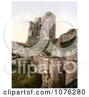 Historical The Ruins Of Scarborough Castle In Scarborough North Yorkshire England UK Royalty Free Stock Photography