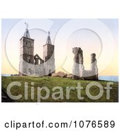 Historical The Ruins Of The 14th Century Reculver Church Near Herne Bay North Kent England Royalty Free Stock Photography