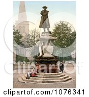 Historical The Statue Of John Howard Near St Pauls Church In Bedford Bedfordshire England UK Royalty Free Stock Photography