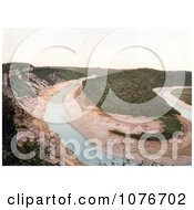 Historical The Tidenham Bend Stream And Cliffs In Chepstow Wales England Royalty Free Stock Photography