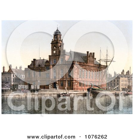 Historical the Town Hall on the Quay in Yarmouth Norfolk England UK - Royalty Free Stock Photography  by JVPD