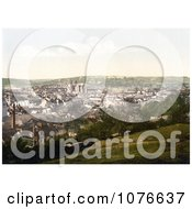 Historical The Truro Cathedral And Carvedras Viaduct In Truro Cornwall England Royalty Free Stock Photography