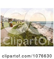 Historical The West Cliff Of Clacton On Sea On The Tendring Peninsula Essex England Royalty Free Stock Photography