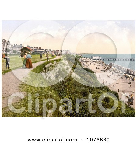 Historical the West Cliff of Clacton-on-Sea on the Tendring Peninsula, Essex, England - Royalty Free Stock Photography  by JVPD