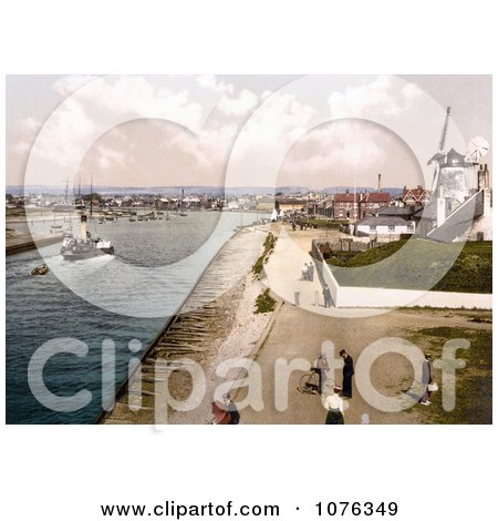 Historical the Windmill at the Harbour in Littlehampton Arun West Sussex England UK - Royalty Free Stock Photography  by JVPD
