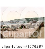 Historical Vendor Carts On The Beach At Weston Super Mare North Somerset England UK Royalty Free Stock Photography