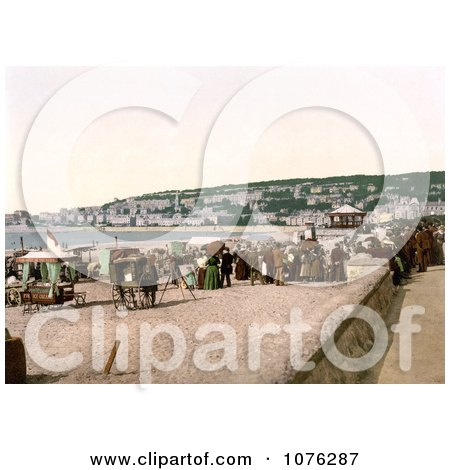 Historical Vendor Carts on the Beach at Weston-super-Mare North Somerset England UK - Royalty Free Stock Photography  by JVPD