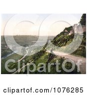 Historical View From Castle Hill On The River Torridge And Torrington Devon England UK Royalty Free Stock Photography
