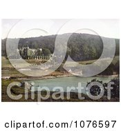 Historical Watermouth Castle And Boat Houses In Ilfracombe England Royalty Free Stock Photography