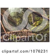 Historical Wooden Bridge And Path In Shanklin Isle Of Wight England UK Royalty Free Stock Photography