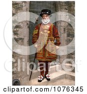 Historical Yeomen Warder Beefeater Guard In A Red Uniform In London England Royalty Free Stock Photography