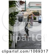 Homeless Persons Bicycle Royalty Free Lifestyle Stock Photography