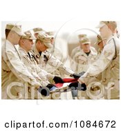 Honor Guardsmen Folding A Flag Free Stock Photography