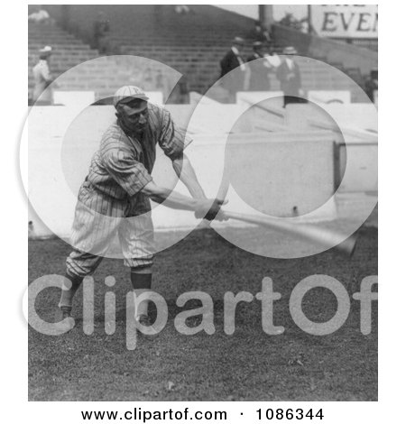 Honus Wagner of the Pittsburgh Pirates Swinging a Baseball Bat - Free Historical Baseball Stock Photography by JVPD