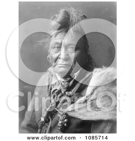 Hoop On the Forehead, Crow Indian Man - Free Historical Stock Photography by JVPD