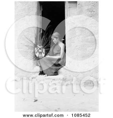 Hopi Native American Woman Weaving a Basket - Free Historical Stock Photography by JVPD