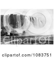 Horseshoe Or Canadian Falls Niagara Falls With Water Of The Niagara River Rushing Down Off The Cliff Royalty Free Historical Stock Photography