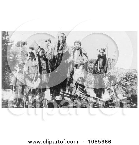 Hunting Horse and Daughters, Kiowa Indians - Free Historical Stock Photography by JVPD